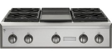 zgundpss monogram  pro style gas cooktop   burners  griddle natural gas
