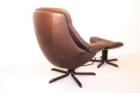 brown leather chair with ottoman brown leather lounge chair with ottoman by h w klein
