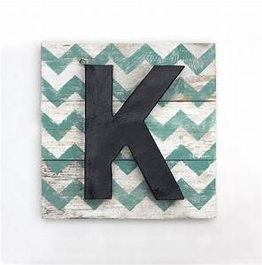 Reserved for sean large painted letter k on reclaimed wood for Large wooden letter k