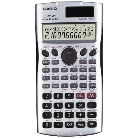 CASIO FX115-MS | Scientific Calculator with 300 Built-In ...