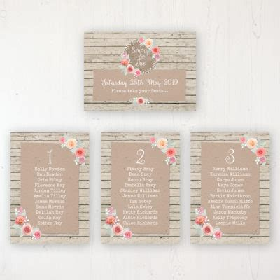 Wedding Table Plan Posters & Cards Sarah Wants Stationery
