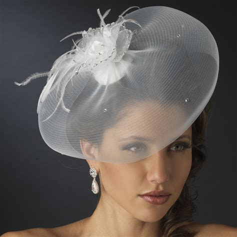 Feather Fascinator And Wedding Hat Veil Elegant Bridal