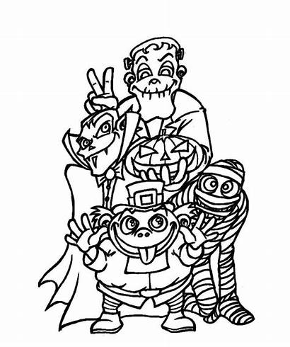 Coloring Pages Creepy Halloween Monster Monsters Doo