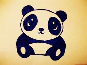 Baby Panda Drawing In Pencil