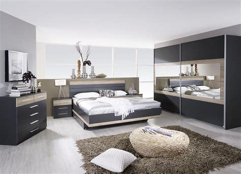 chambre a chambre adulte complète contemporaine grise chêne clair