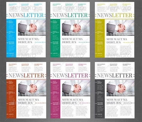 Enewsletter Template Design by 10 Best Indesign Newsletter Templates Graphic Design