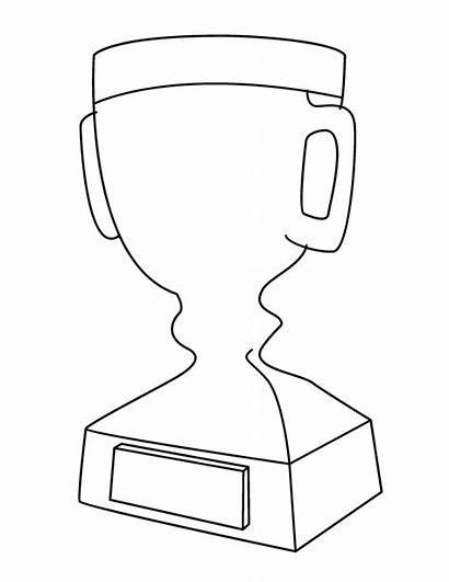 Trophy Coloring Printable Pages Cup Outline Trophies