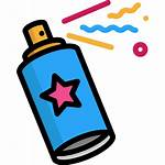 Spray Paint Graffiti Icon Painting Party Clipart