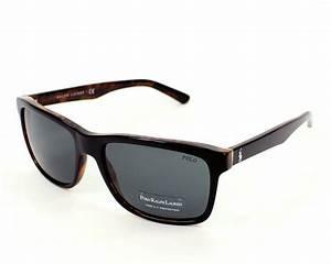 c5a0e45a8f28 lunettes de soleil polo ralph lauren ph 4098 5260 87 noir avec des verres  gris pour hommes
