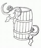Monkeys Coloring Barrel Popular Coloringhome sketch template