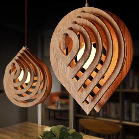 rain drop led wood pendant light rustic lighting fixtures