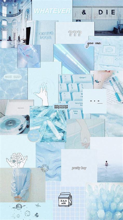 lockscreen blue pastel aesthetic wallpaper estetika