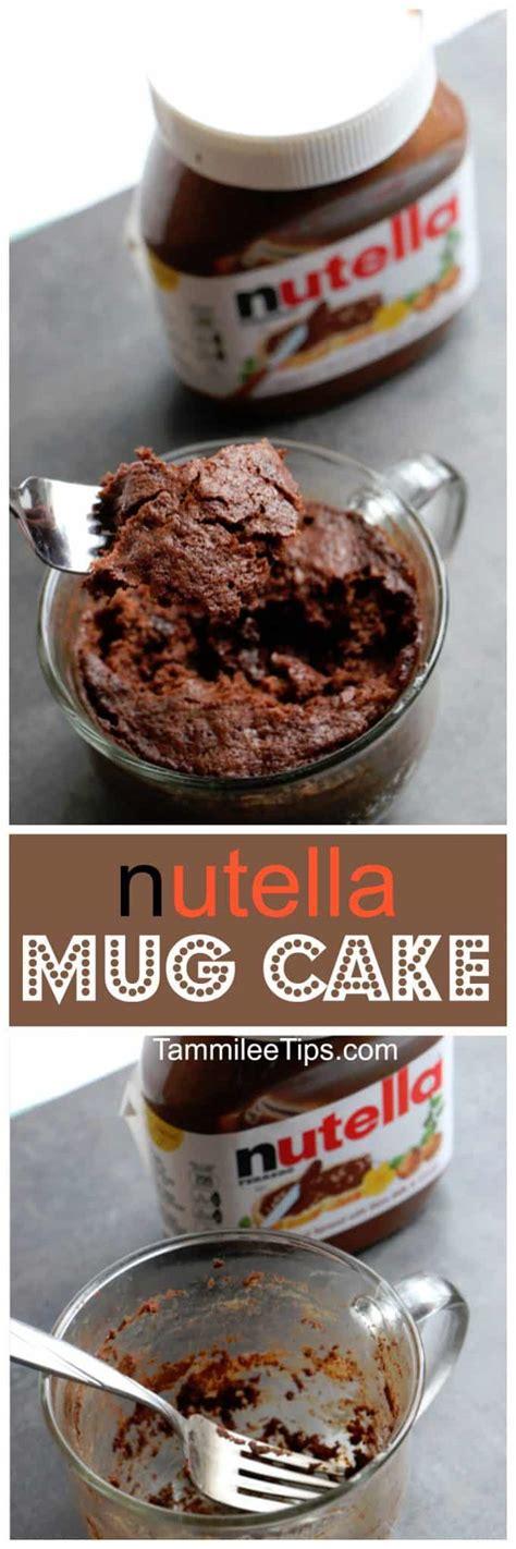 super easy   nutella mug cake recipe