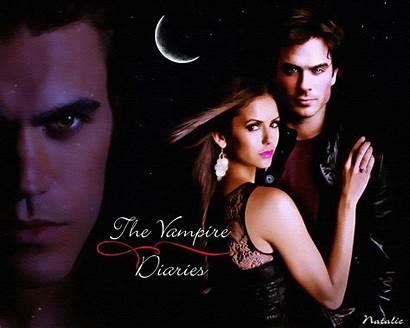 Diaries Vampire Damon Elena Stefan Wallpapers Fanpop