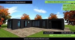 plan de maison avec patio 6 maison container modulaire With plan maison avec patio 17 maison container modulaire ossature bois d architecte