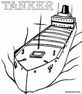 Ship Coloring Pages Tanker Print Colorings sketch template