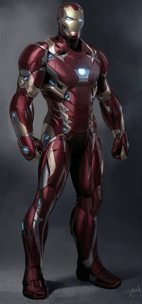 Iron Man Mark Xlvi By Phil Saunders  I Am Iron Man