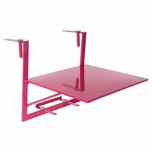 Table De Balcon Rabattable : tablette de balcon rabattable camargue 60 x 53 cm framboise table de jardin eminza ~ Teatrodelosmanantiales.com Idées de Décoration