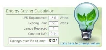 1000bulbs s energy savings calculator shows benefits