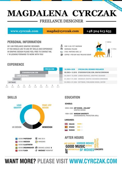 Free Infographic Resume Maker by Internship Format Your Resume Jenifer Design