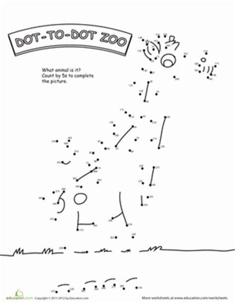 dot to dot zoo 5 s worksheet education