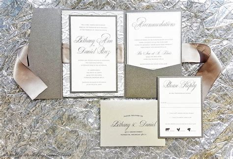 pocketfold wedding invitations marina gallery