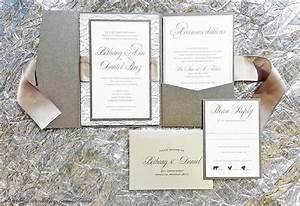 silver and gray ribbon and lace wedding invitations With diy wedding invitations satin ribbon