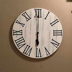 do it yourself farmhouse clock roman numerals 4 in tall decal With roman letter wall clock