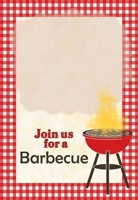 barbecue  printable party invitation template