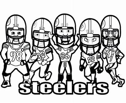 Steelers Coloring Football Pages Nfl Players Player