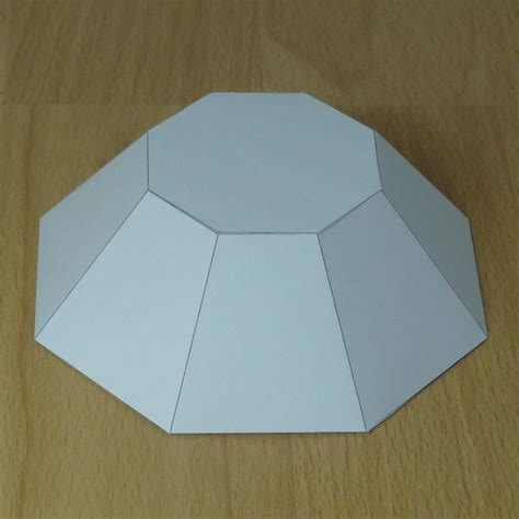 paper model truncated octagonal pyramid paper paper