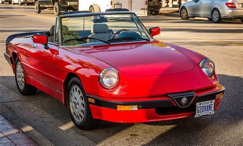Alfa Romeo Spider Veloce by 1992 Alfa Romeo Spider Veloce Photograph By Steve Harrington