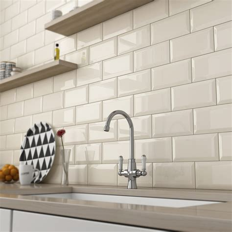 gloss kitchen tile ideas biselado crema wall right price tiles