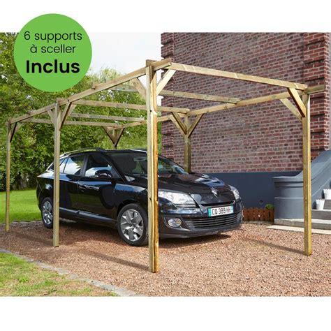 Originally plan was to wedge 2 2x4s in place. Carport bois traité autoclave Madeira Paco 15,36 m² + Supports à sceller 1 colis : L 300 x l 120 ...