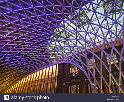 lattice roof structure detail of the steel lattice work roof structure engineered by arup 60035486 alamy