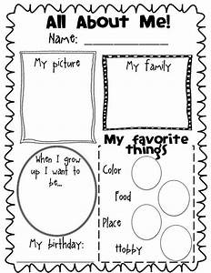 117 best images about preschool all about me on pinterest for About me template for students