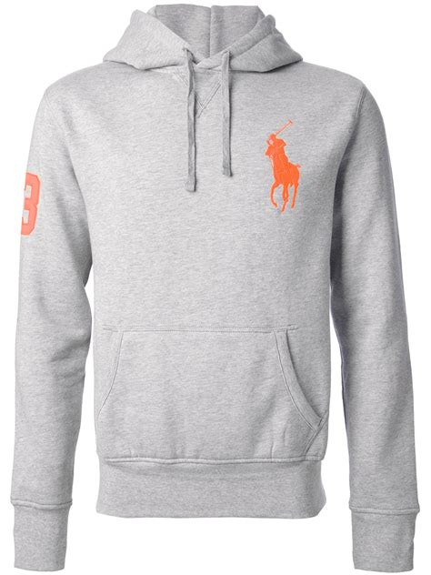 ralph polo sweaters polo ralph big pony sweater in gray for lyst