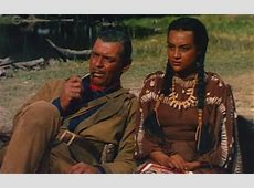 Clark Gable and Mara Elena Marqus in Across the Wide Missouri
