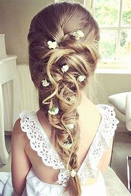 Cute Flower Girl Hairstyle