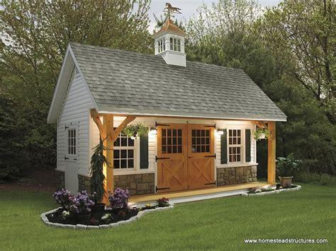Backyard Outbuildings - 12 x 20 liberty a frame shed w timberframe porch vinyl
