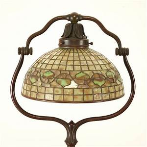 tiffany studios bronze floor lamp quotacornquot shade With tiffany acorn floor lamp
