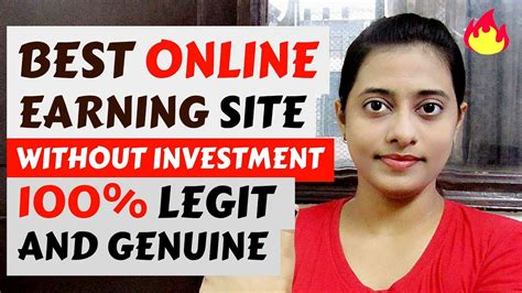 genuine  earning site  investment  work