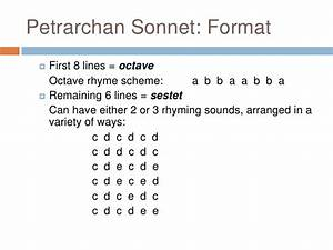 Petrarchan Sonnets