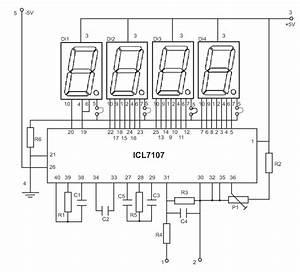 Led display digital voltmeter electronics lab for Diy digital voltmeter panel meter 0 50v