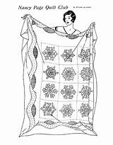 Quilt Coloring Pages Patterns Pattern Embroidery Designs Snowflake Winter Embroidered Needlework Printable Sheets Quilting Nancy Block Club Preschooler Schmitz Kathy sketch template