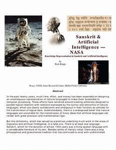 Nasa Uses Sanskrit To Program Artificial Intelligence