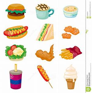 Cartoon Fast Food Icon Stock Image Image22208791