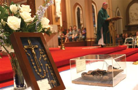 mother teresas relics stop rock arkansas catholic