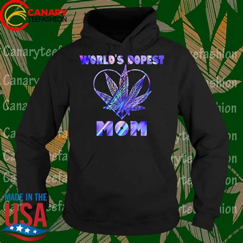 Worlds Dopest Mom Color Shirt Hoodie Sweater Long