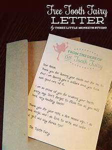 free tooth fairy letter by three little monkeys studio With letter from the tooth fairy template